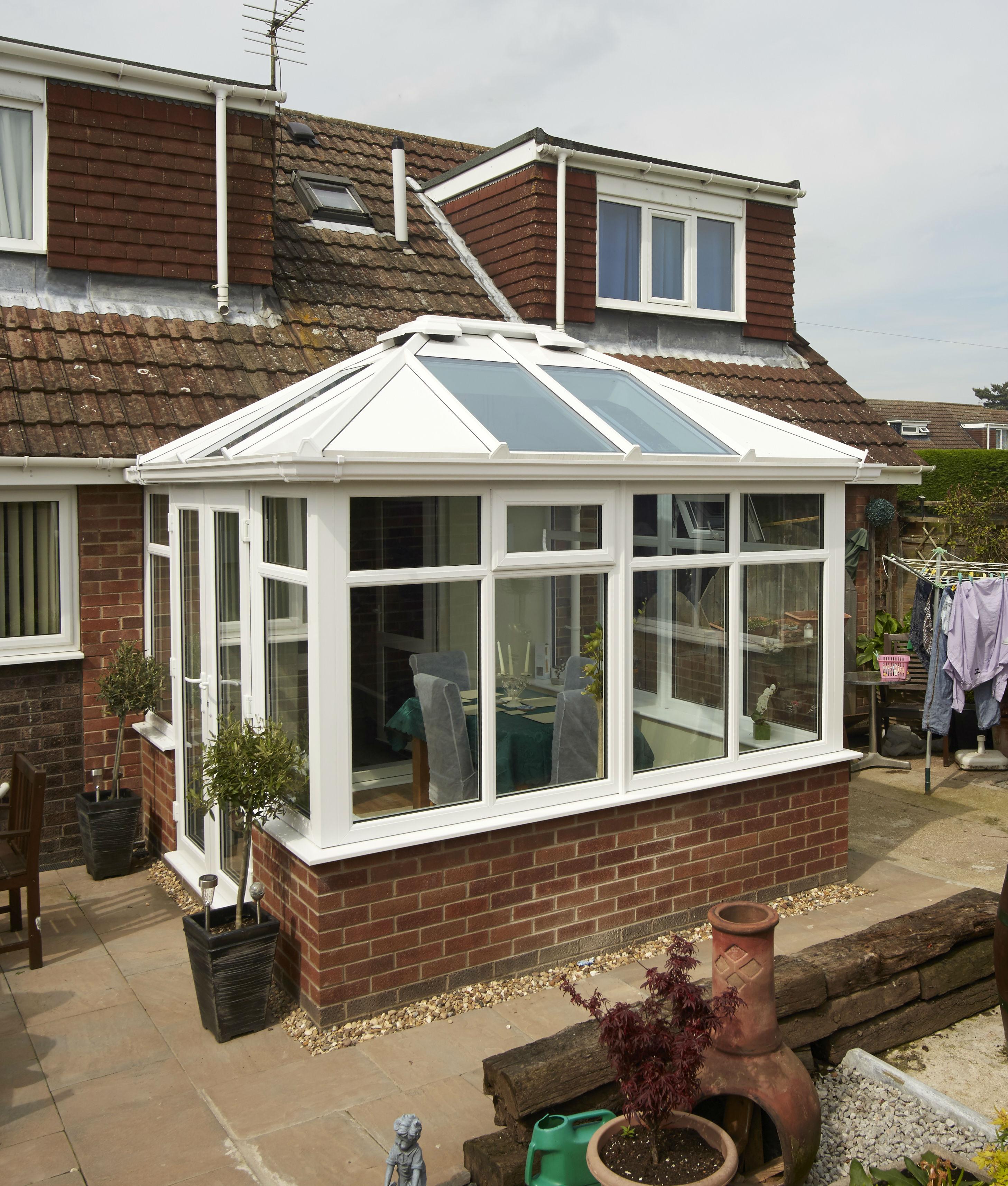 Super Tickton conservatory transformation & Hybrid roof ...