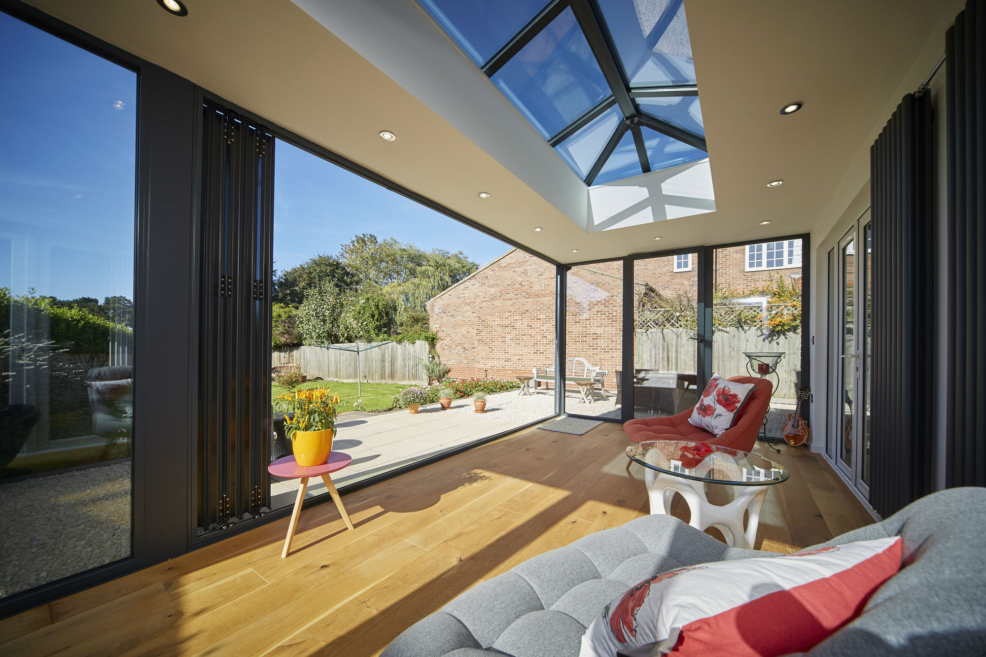 Bifold door and Skypod roof light   EYG