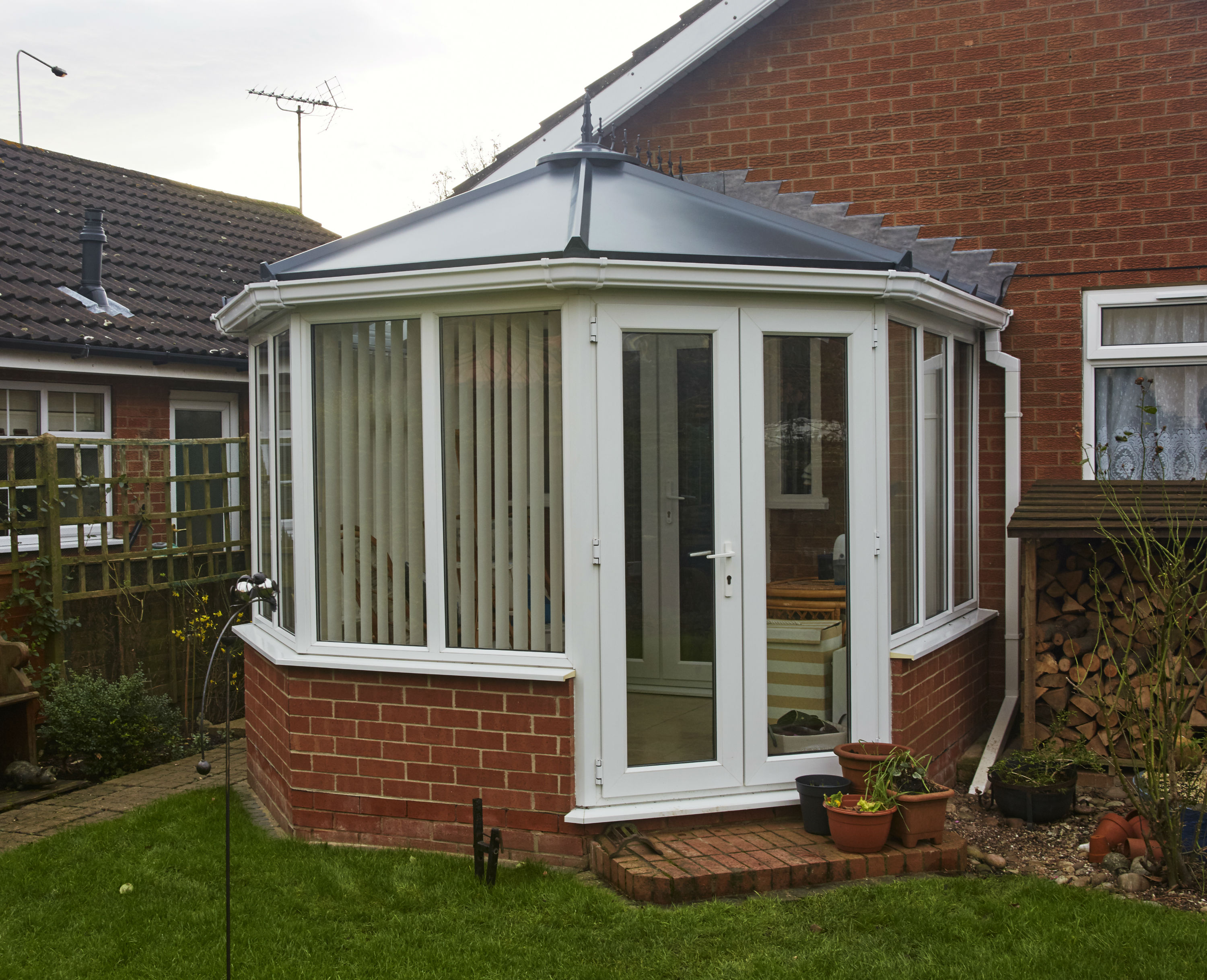 Victorian Conservatory with French Doors